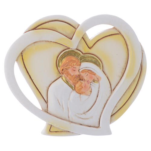 Heart shaped favor Holy Family 2 in 1