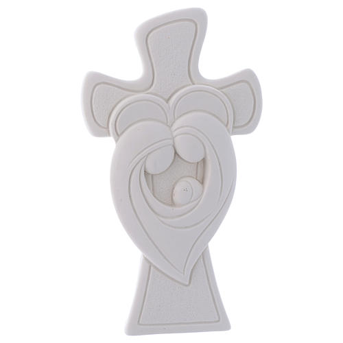 Bomboniera Croce da appoggio S. Famiglia 10 cm 1