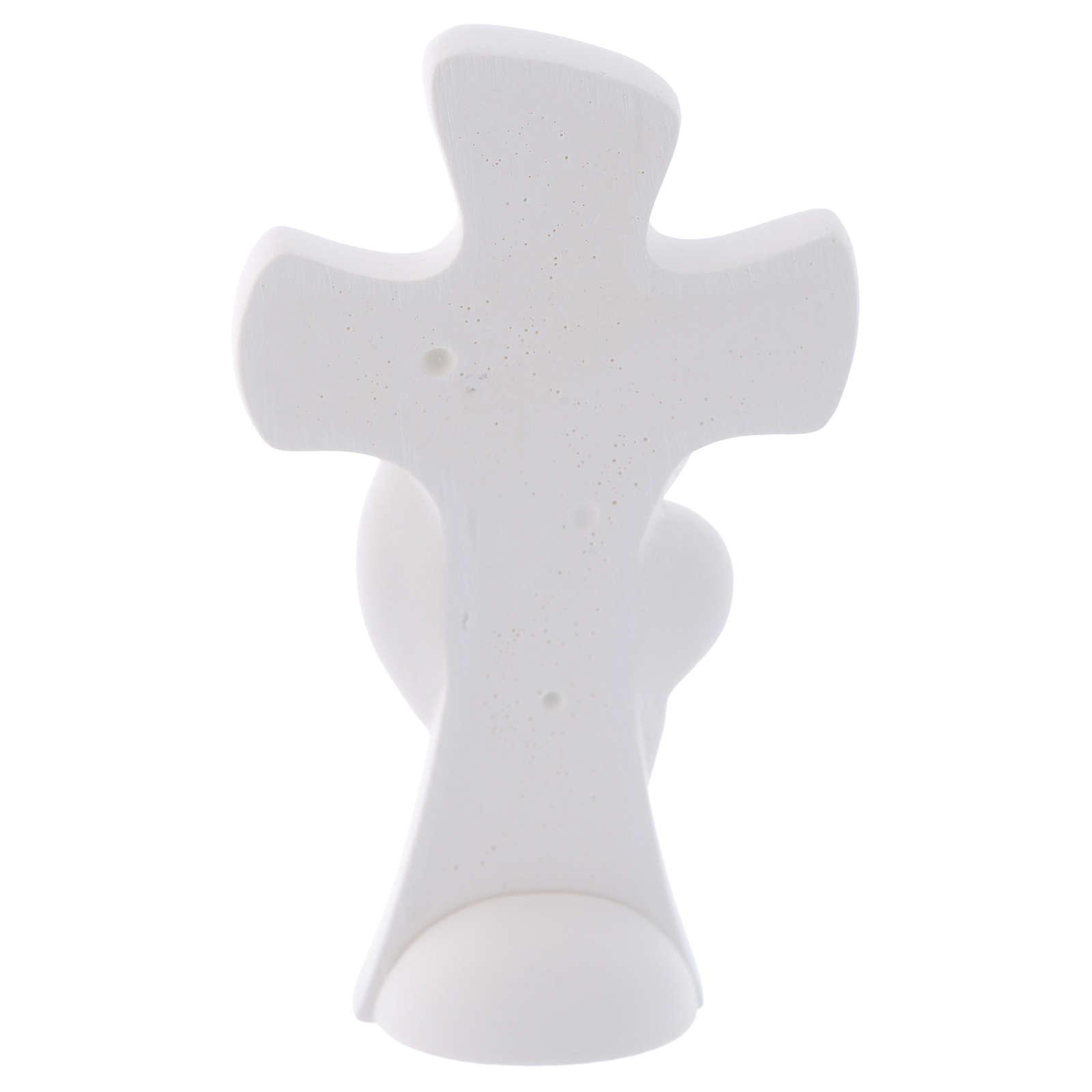 Bomboniera Croce da appoggio Maternità 10 cm 3