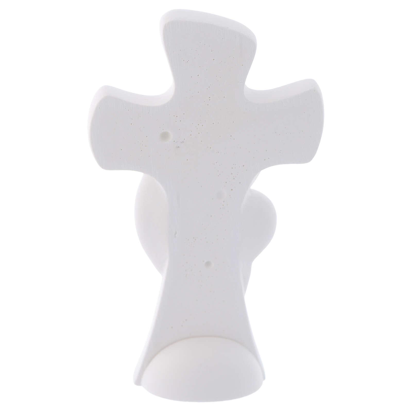 Lembrancinha cruz de mesa Maternidade 10 cm 3