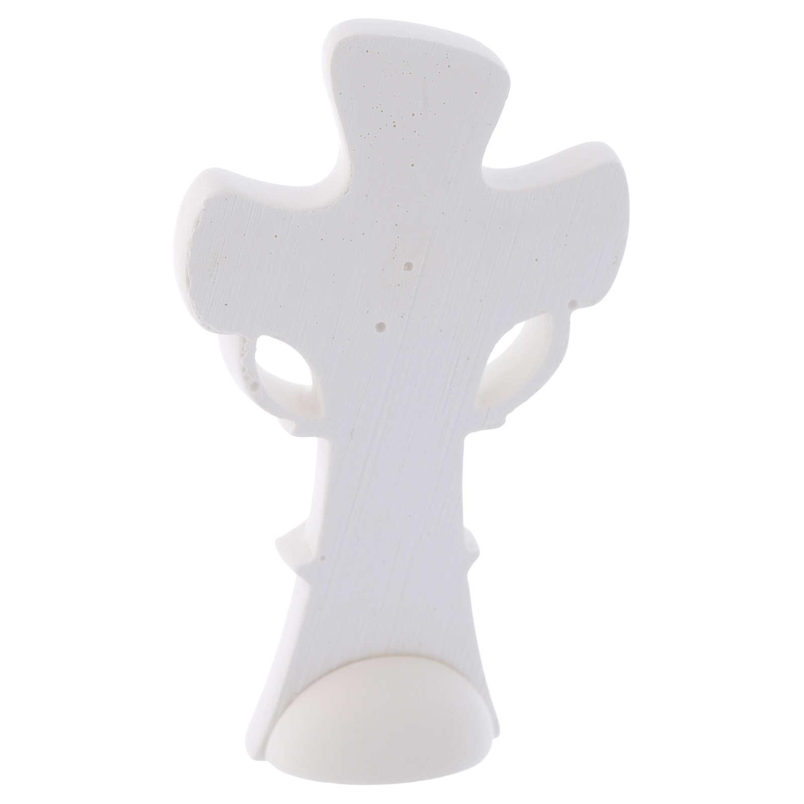 Ricordino Croce simbolo dell'Eucarestia h. 10 cm 3