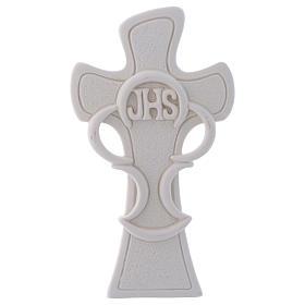 Ricordino Croce simbolo dell'Eucarestia h. 10 cm s1