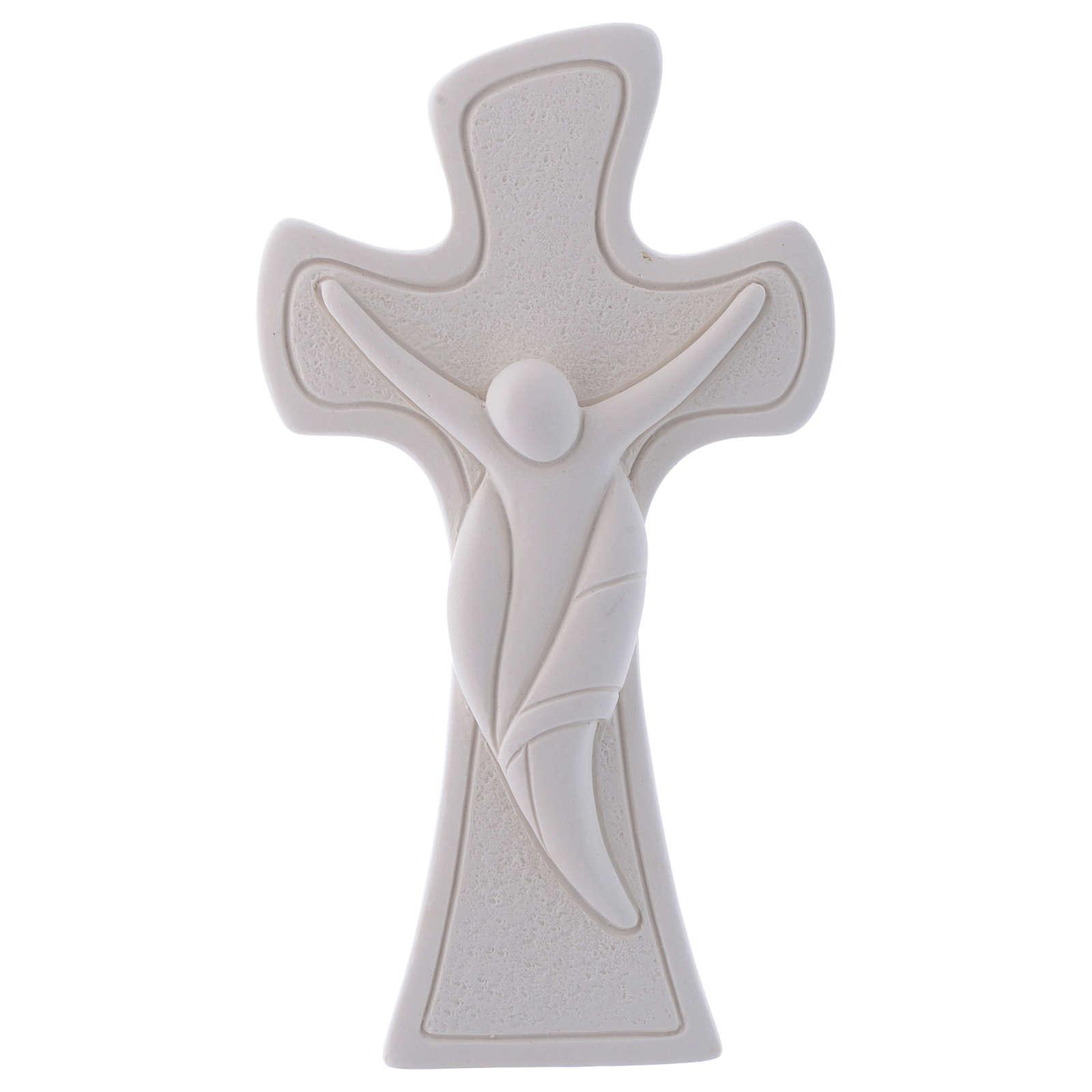 Bonbonnière religieuse Crucifix 9,5 cm 3