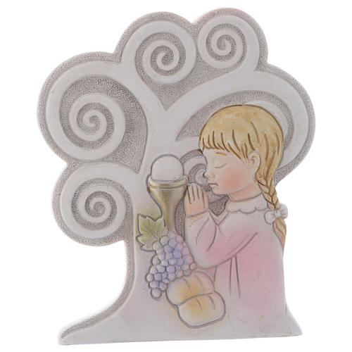 Ricordino Albero Comunione Bambina 10 cm 1