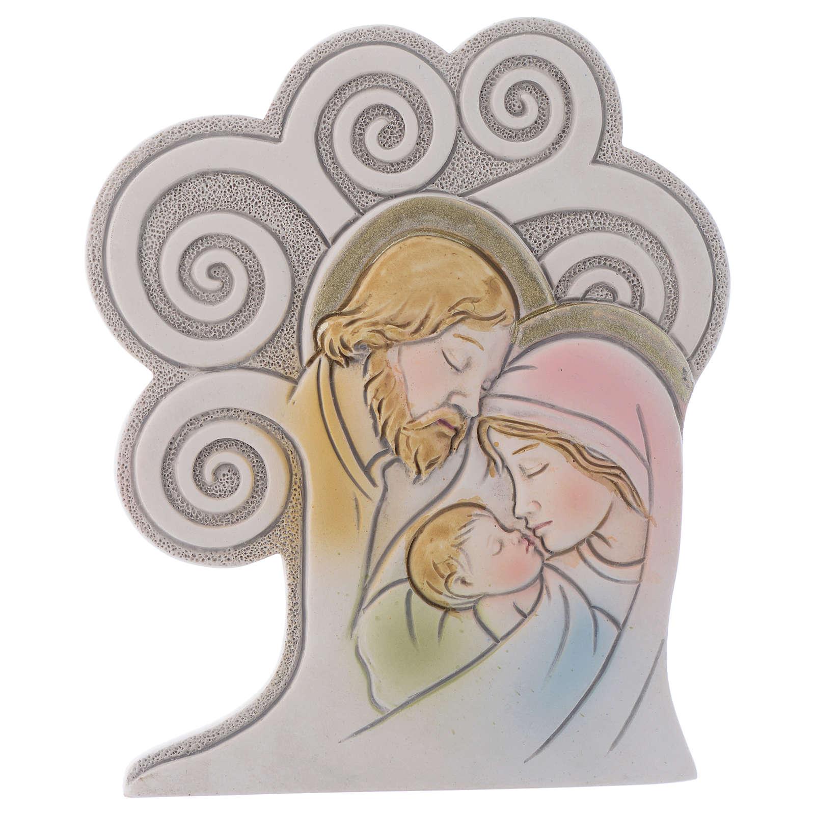 Ricordino religioso S. Famiglia Albero 10 cm 3