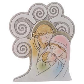 Ricordino religioso S. Famiglia Albero 10 cm s1