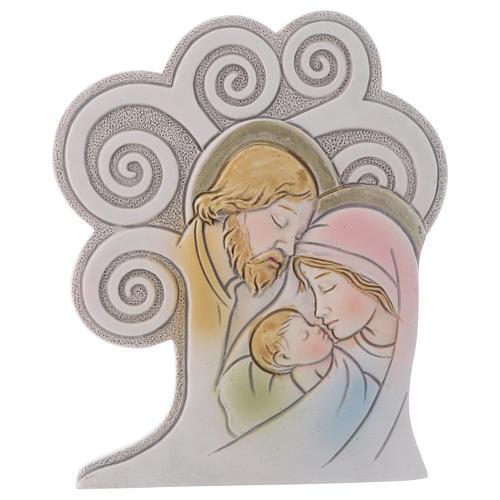 Ricordino religioso S. Famiglia Albero 10 cm 1