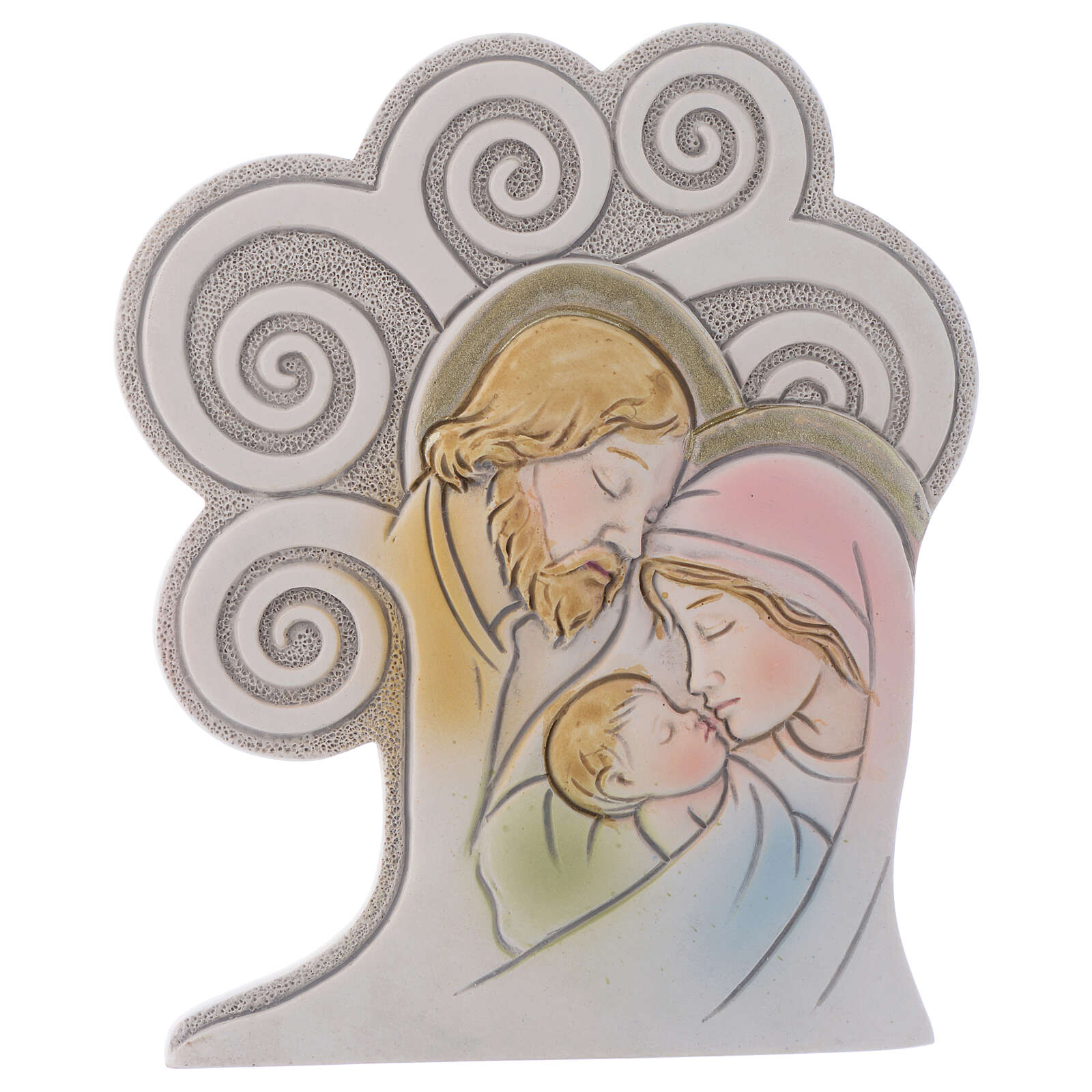 Religious souvenir Holy Family Tree 10 cm 3