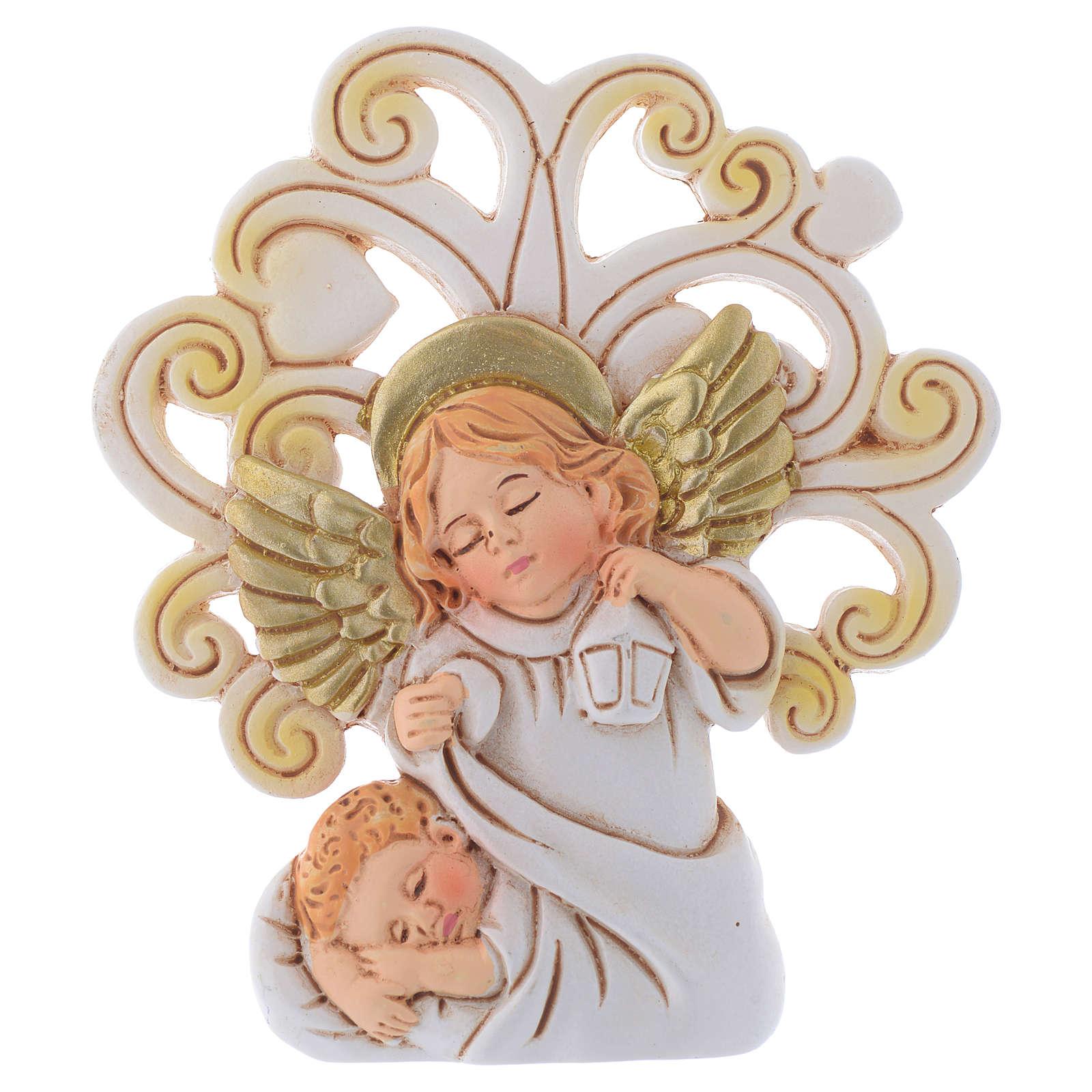 Bomboniera Battesimo con sfondo Albero cm 10 3