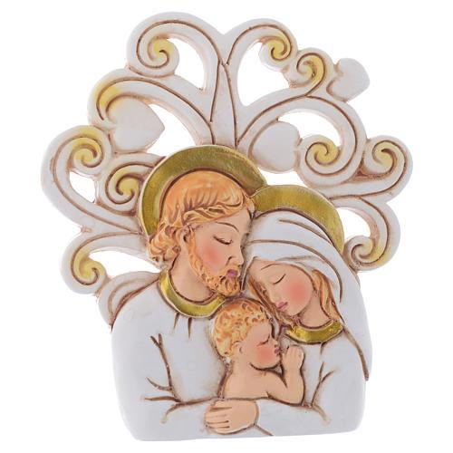 Bomboniera S. Famiglia con sfondo Albero cm 10 1