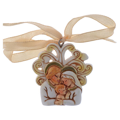 Pendant Holy Family marble dust 2 in 1