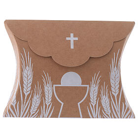 Communion gift box brown paperboard h 3.35 in s1