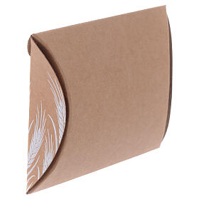 Communion gift box brown paperboard h 3.35 in s2