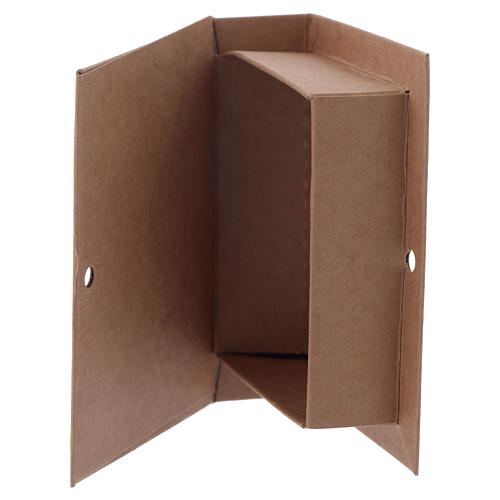 Paper box with cross print, book-shaped 7 cm 2