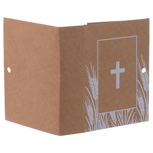 Paper box with cross print, book-shaped 7 cm 3