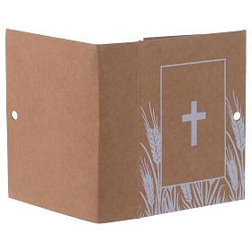 Scatolina bomboniera libro con stampa croce h.7cm  s3