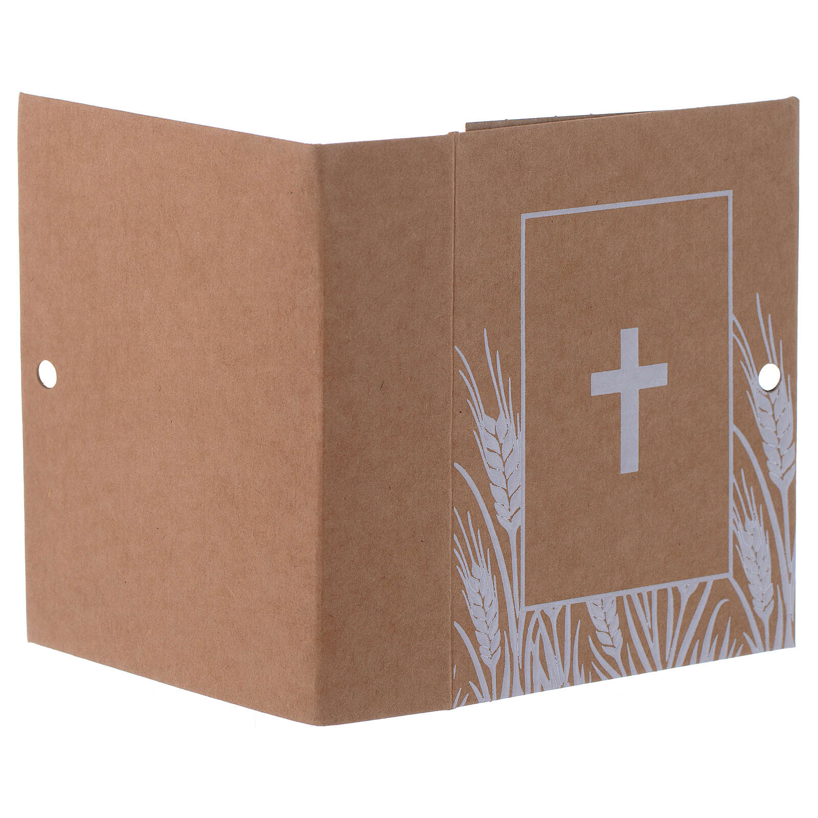 Gift box book shape with cross print h 3 in 3