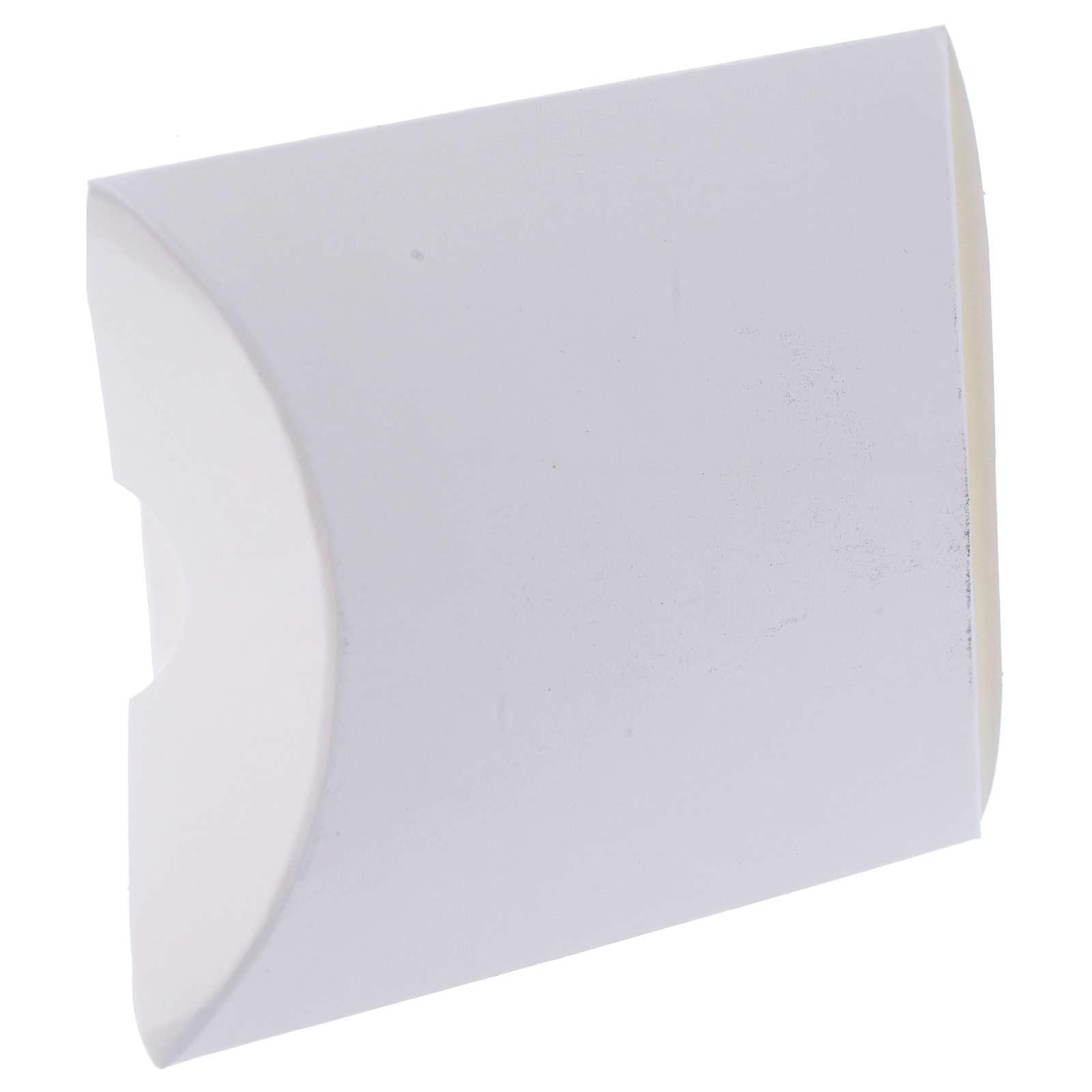 Cajita Recuerdo Confirmación Blanco y Oro alt. 8,5 cm 3