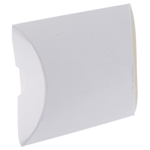 Cajita Recuerdo Confirmación Blanco y Oro alt. 8,5 cm 2