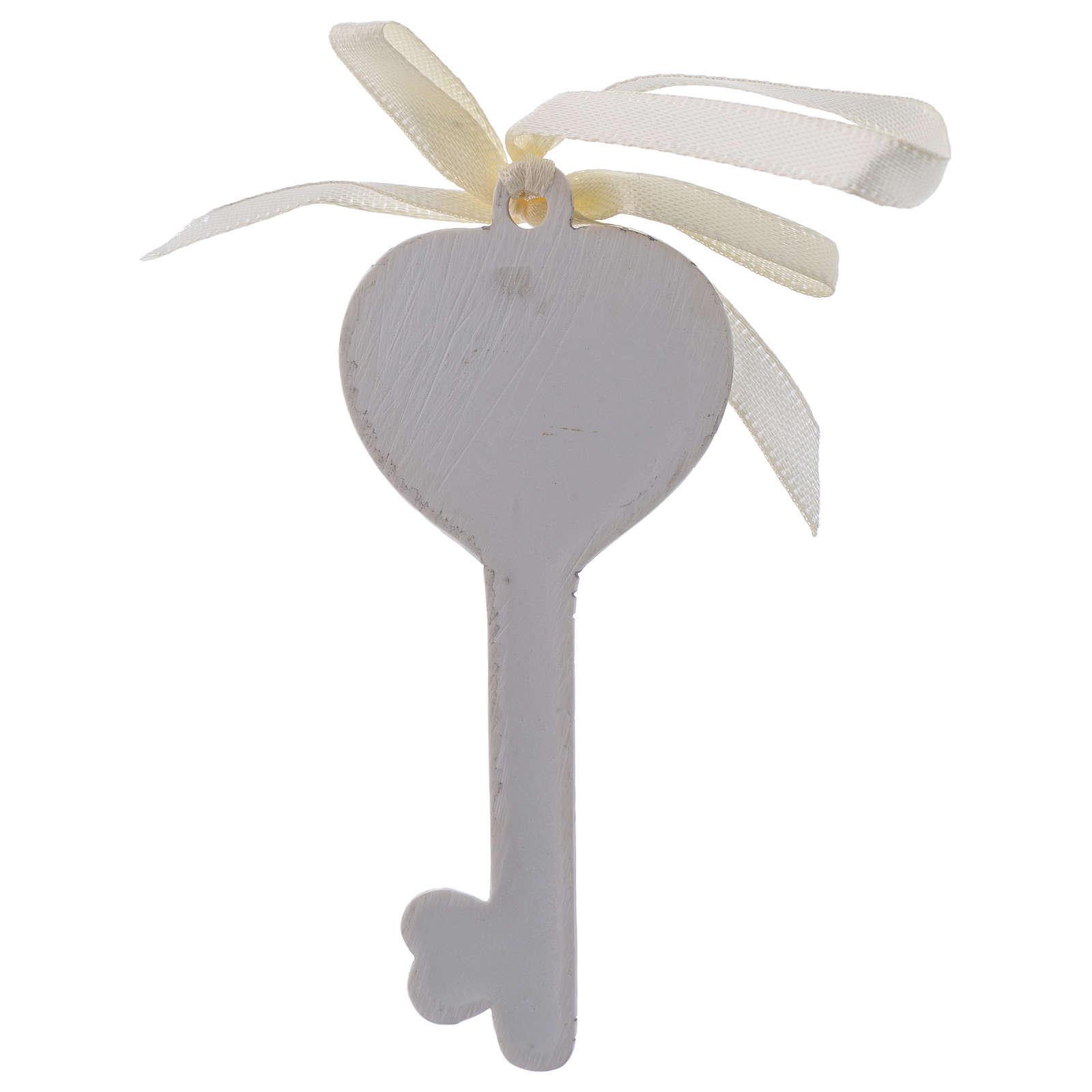 Bonbonnière religieuse pour Communion clé 9 cm 3