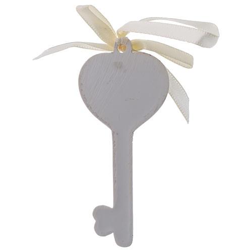 Bonbonnière religieuse pour Communion clé 9 cm 2