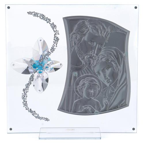 Idée-cadeau image Ste Famille et fleur bleue 25x25 cm 3