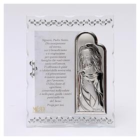 Quadretto Gesù con orazione 15x10 cm s1