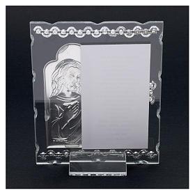 Quadretto Gesù con orazione 15x10 cm s3