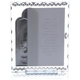 Quadretto Maternità con lamina argento e preghiera 25x20 cm s3