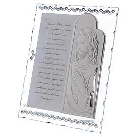 Cuadrito regalo con Jesús y oración 25x20 cm s2