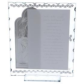 Cuadrito regalo con Jesús y oración 25x20 cm s3