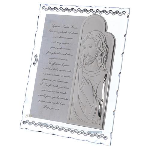 Cuadrito regalo con Jesús y oración 25x20 cm 2