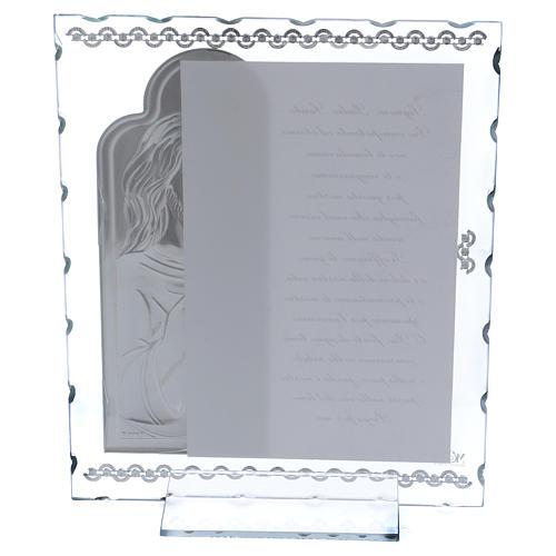 Cuadrito regalo con Jesús y oración 25x20 cm 3