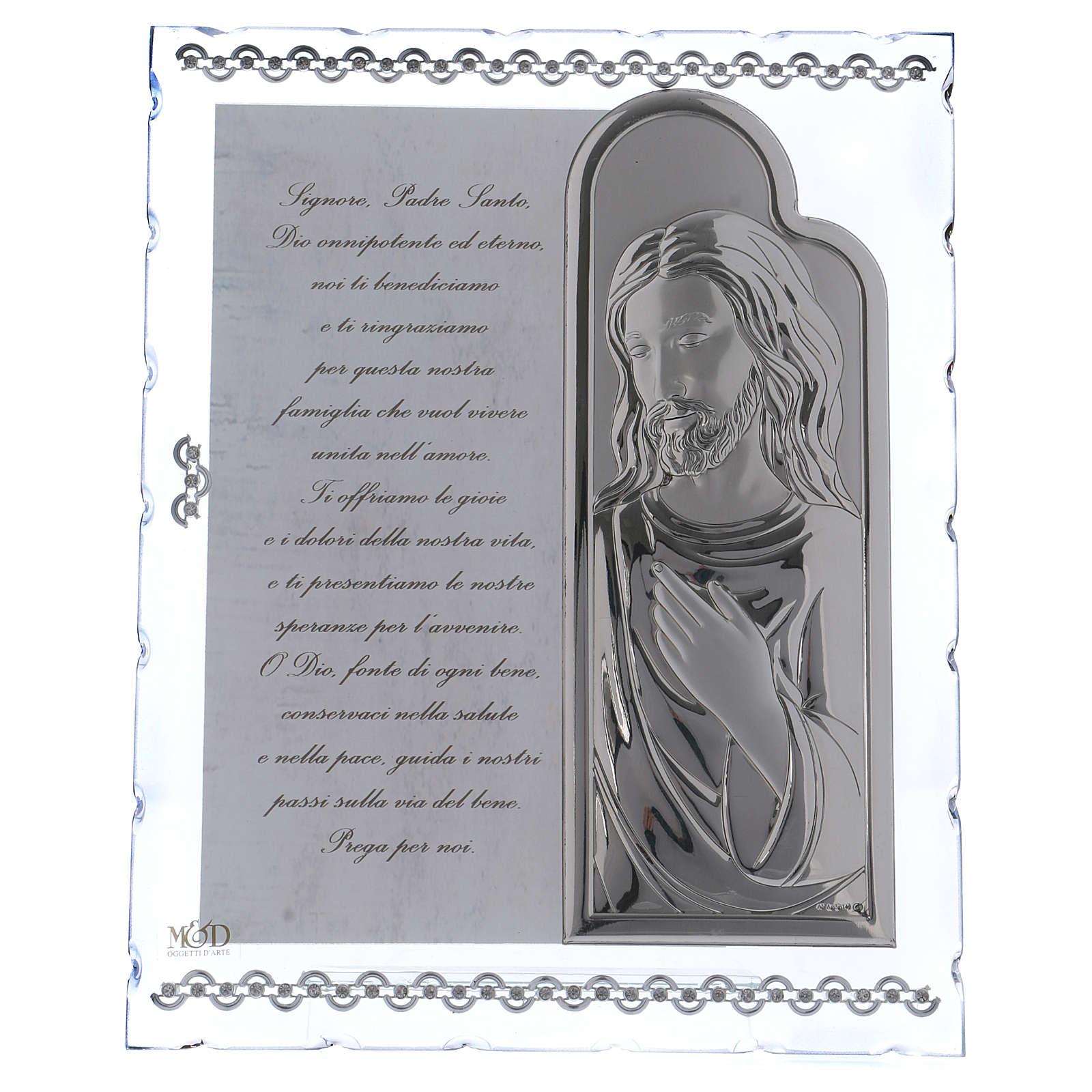 Cadre avec Jésus et prière ITA 25x20 cm 3