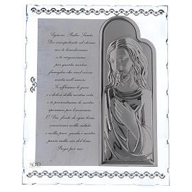 Cadre avec Jésus et prière ITA 25x20 cm s1
