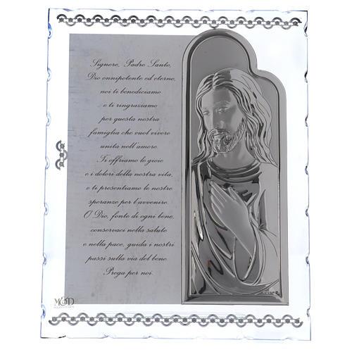 Cadre avec Jésus et prière ITA 25x20 cm 1