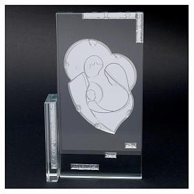 Cuadrito cristal Sagrada Familia 20x10 s3