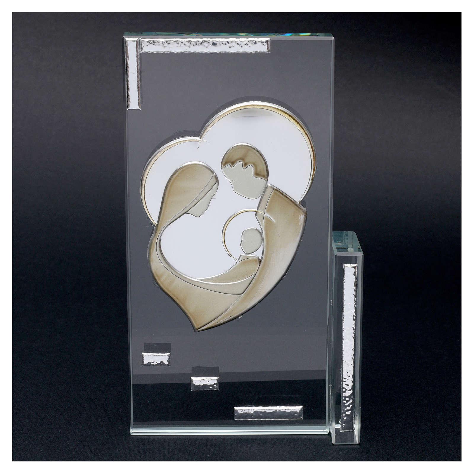 Quadretto cristallo Sacra Famiglia 20x10 3