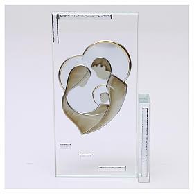Quadretto cristallo Sacra Famiglia 20x10 s1