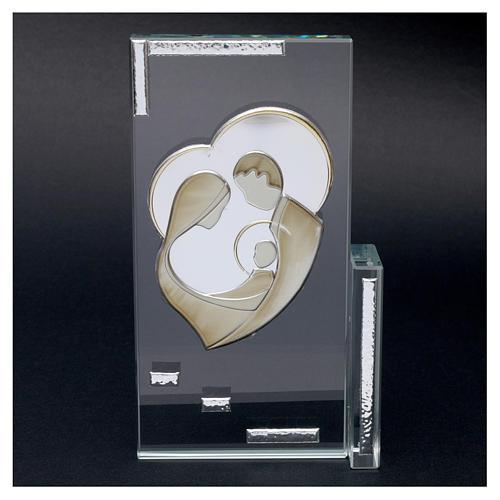Quadretto cristallo Sacra Famiglia 20x10 2