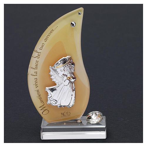 Bomboniera sacra fiamma con Angioletto 10x5 cm 2