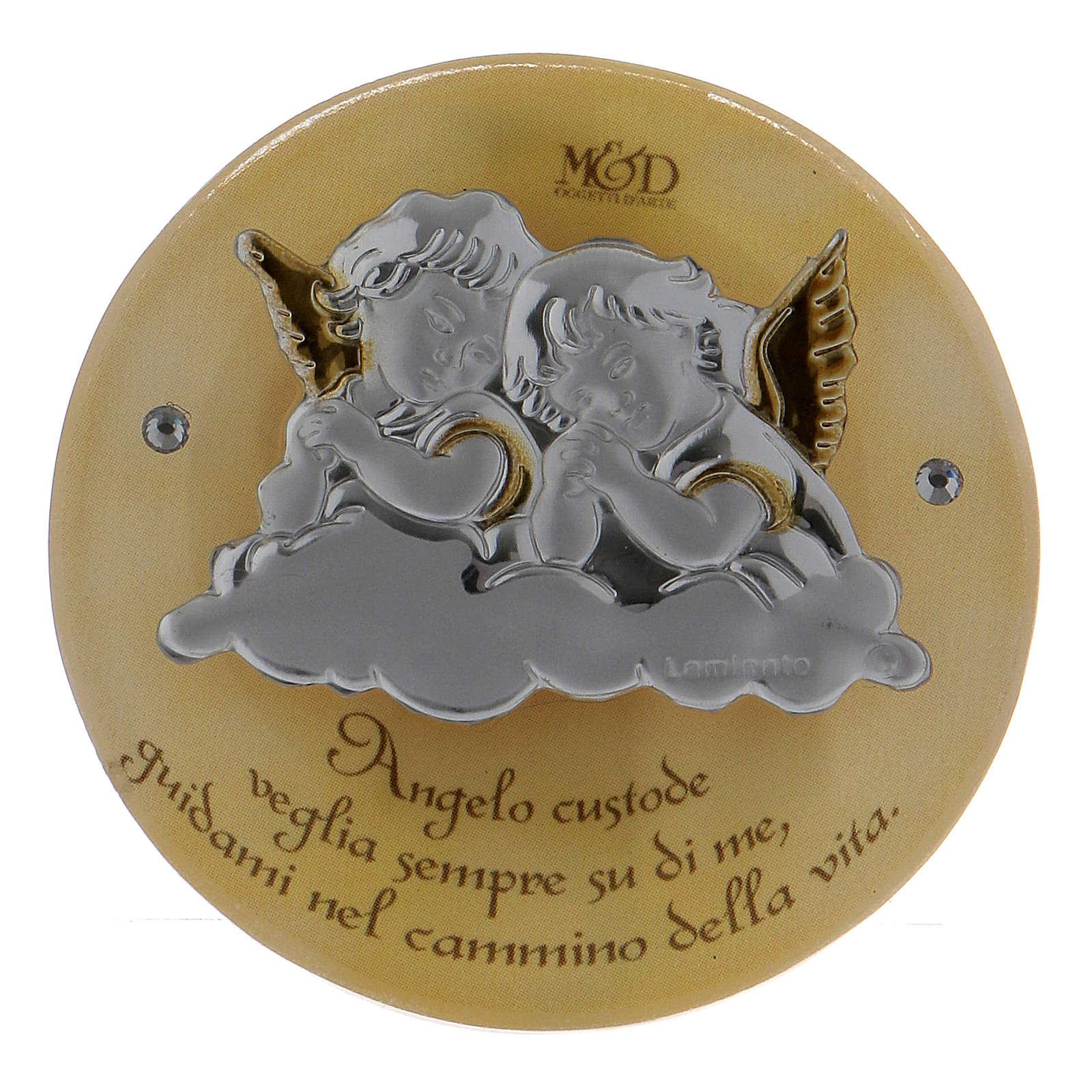 Bonbonnière religieuse Anges gardiens 5 cm 3