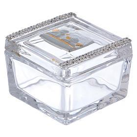 Lembrancinha caixa com anjos 5x5x5 cm s1