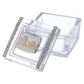 Lembrancinha caixa com anjos 5x5x5 cm s2