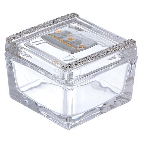 Lembrancinha caixa com anjos 5x5x5 cm 1