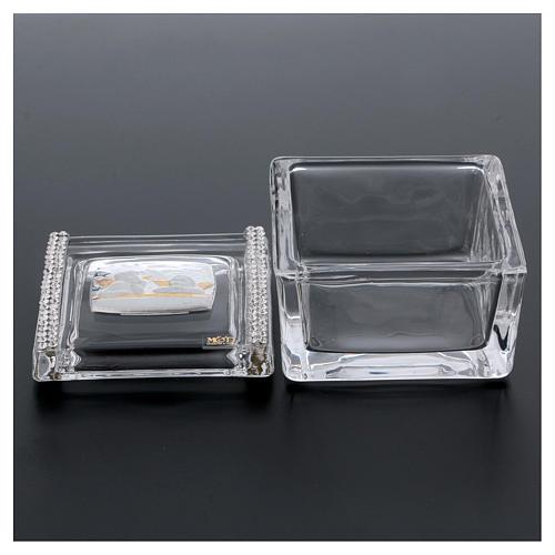 Lembrancinha caixa com anjos 5x5x5 cm 3