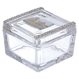 Glass box with Angels 2x2x2 in s1