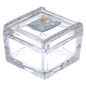 Box-shaped party favour for Holy Communion 5x5x5 cm s1