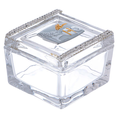 Box-shaped party favour for Holy Communion 5x5x5 cm 1