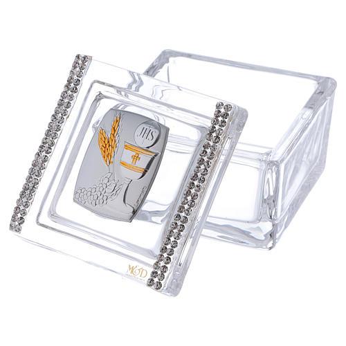 Pamiątka pudełeczko Komunia 5x5x5 cm 2